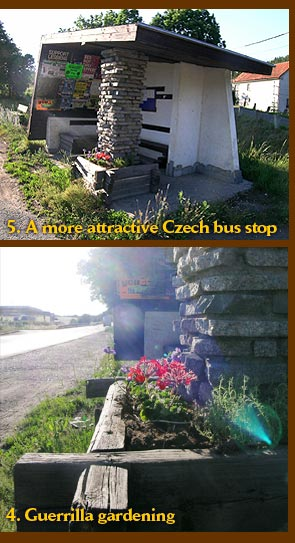 Guerrilla gardening in the Czech Republic near Obory