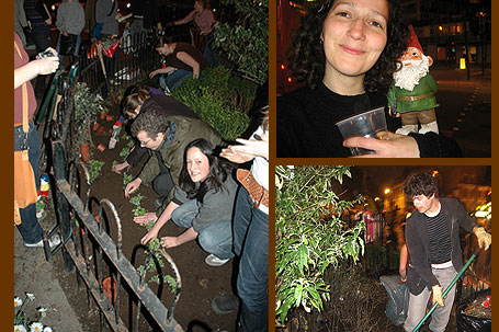 Guerilla gardeners in Old Street London