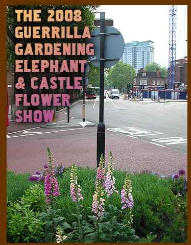 The 2008 Guerrilla Gardening Elephant & Castle Flower Show