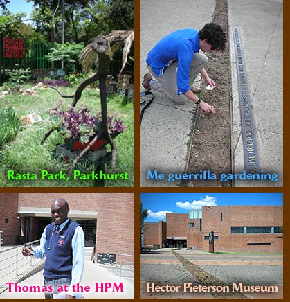Guerrilla gardening at the Hector Pieterson Museum, Soweto.