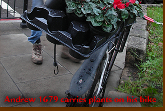 Andrew 1679 carries plants on his bike