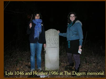 Lyla 1046 and Heather 1986 at The Diggers memorial