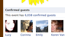 6038 confirmed guests