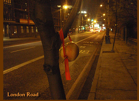 London Road guerrilla apple food Christmas decoration