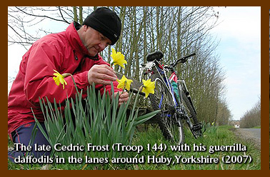 The late Cedric Frost 144 with his guerrilla daffodils in the lanes around Huby Yorkshire