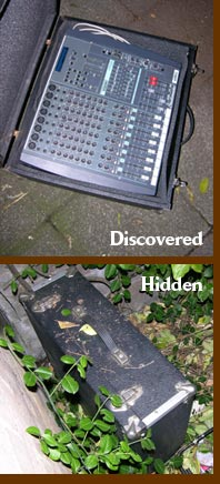 A mixing desk is discovered by the guerrilla gardeners