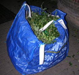 A big bag of green waste