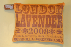 GuerrillaGardening.org Lavender Pillow 2008